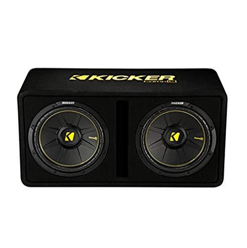 Kicker 44DCWC122 Dual 12-Inch 1200 Watt 2 Ohm Vented Loaded Subwoofer Enclosure