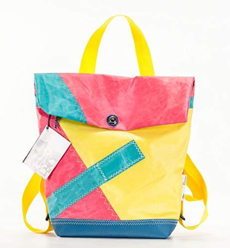 Back Bag No. 26, Rucksack Tasche, Sporttasche, Segeltuch, Unikat, SailArt Fashion