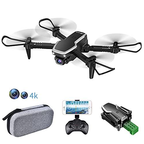 allcaca S171 RC Mini Drone con Telecamera FPV 4K HD Doppia - RC Quadricottero WiFi Pieghevole Drone - Un Pulsante Decollo & Atterraggio - Modalit Senza Testa 3D Flip Adatto ai Principianti e Bambini