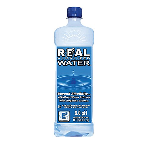 Real Water Alkalized Water, 33.8 Fluid Ounce (Pack of 12)
