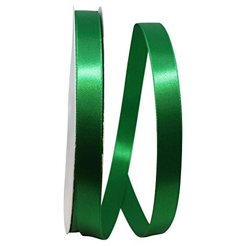 Double Face Satin Ribbon, ⅝ Inch X 100 Yards, Emerald Green
