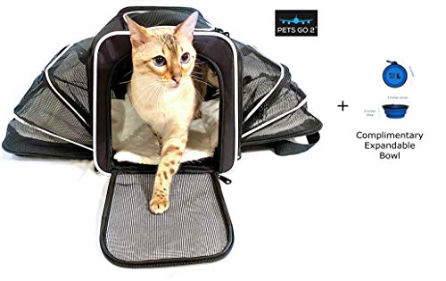 Premium Small Pet Carrier for Puppies, Small Dogs...