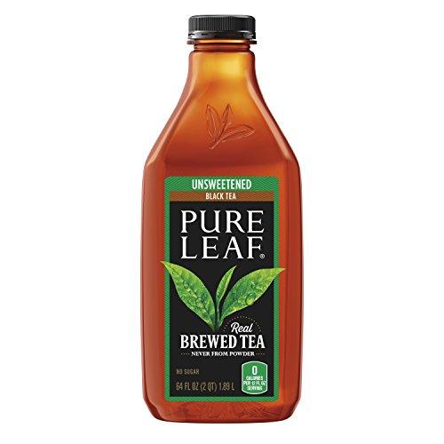 Pure Leaf Prepared Tea, Unsweetened Black Tea, 64 fl oz...