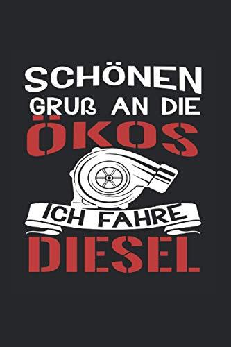 Öko Dieselfahrer Motorsport Autofan Geschenk: Notizbuch 7x9
