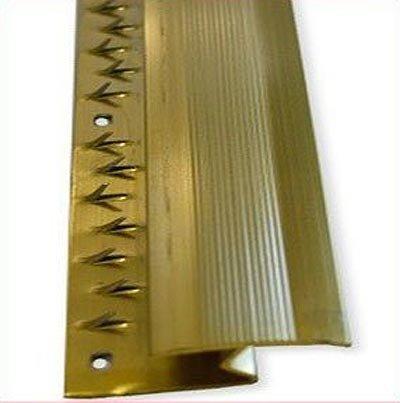 Laminate Z Door Bars - Profilo per pavimenti in laminato, 8 mm x 91 cm, effetto ottone