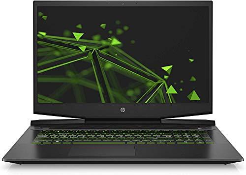 HP Pavilion Gaming 17-cd0228ng (17,3 Zoll / FHD IPS 144Hz) Notebook (Intel Core i7-9750H, 16GB DDR4 RAM, 1TB HDD, 512GB SSD, Nvidia GeForce GTX 1660Ti Max-Q 6GB DDR6, Windows 10) schwarz/grün