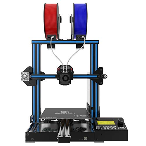 GEEETECH A10M 3D Printer with Mix-Color Printing, Adjustable Dual Extruder Design, Filament Detector and Break-resuming Function, Updated 3mm Hotbed Kit,Prusa I3 Quick Assembly DIY kit