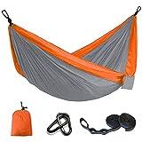 Hamac Suspendu de Jardin 2 Places Hamac de Camping Portable Hamac de Voyage en Nylon Ultra-léger...