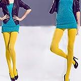 Danigrefinb 120d coloré Femme Hiver Chaud épais Chaussettes Collants Collants Bonneterie Bas, Jaune