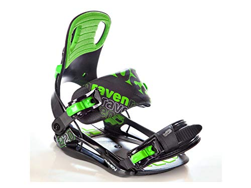 Attacchi Snowboard Raven S220Green, XL (45-48)