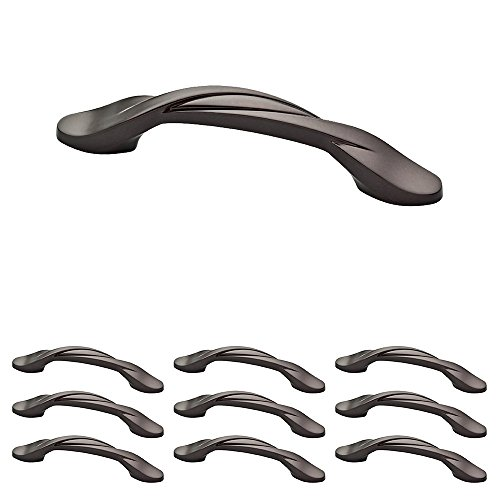 Franklin Brass P35518K-OB3-B1 Curved Kitchen Cabinet Drawer Handle Pull, 3 inch, DarK Bronze, 25 Count