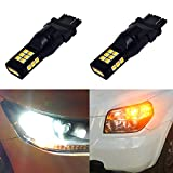 Alla Lighting 3157 LED Switchback Bulbs Fits Standard SRCK CK 4157NA Dual Color White Amber 3157 3457 LED Switchback Extremely Super Bright High Power 3035-SMD LED Bulbs for Turn Signal Lights