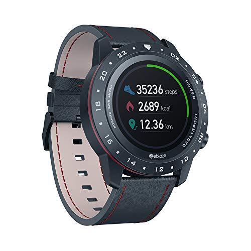 SUQIAOQIAO Zeblaze NEO 2 1.3 Inch IPS Color Touch Full Round Display Screen Smart Watch, 180 Mah Battery Heart-Rate Sensor Bracelet Multi Sport Modes,Black