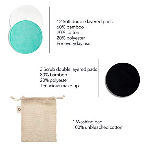 Reusable Makeup Remover Pads   Eco Friendly & Zero Waste Cotton Rounds   Beauty Products   15 Natural & Organic Face… 4
