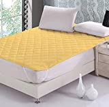 Rajasthan Crafts Microfiber Double Bed Waterproof and Dust Proof Mattress Protector (Beige, 72x78 inches)