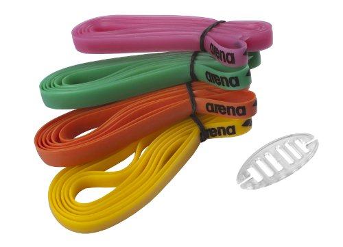 Arena Racing Goggles Strap, Kit di Cinturini per Occhialini da Gara in Silicone Unisex Adulto, Multicolore (Multicolour), Taglia Unica