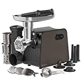 Electric Meat Grinder with 3 Size Sausage Stuffer Tubes & a Kubbe Kit, Salad Maker with 3 Slicer...