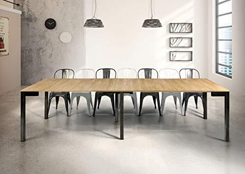 Milani Home s.r.l.s. Tavolo da Pranzo Moderno di Design A CONSOLLE CM 90 X 50/100/150/200/250/300...