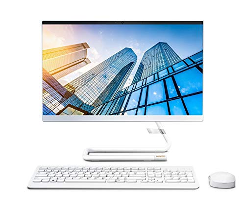 "Lenovo IdeaCentre AIO 3 21.5"" FHD All-in-One Desktop (AMD Athlon Silver 3050U –2.3GHz Base Speed/8GB/1TB HDD/Win10/Office/AMD Radeon GFX/HD 720p Camera/Wireless Keyboard & Mouse) FoggyWhite F0EX0081IN"