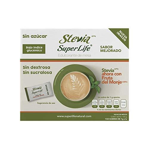 Stevia Super Life® Bio 90 Sobres, Sin azúcar
