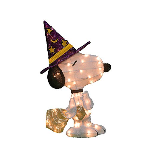 ProductWorks 46301_L2D Peanuts Snoopy in Witch's Hat 2 Dimensional Halloween