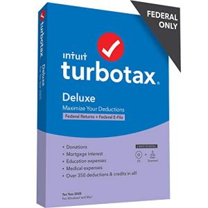 TurboTax Business 2020 Desktop Tax Software, Federal Return Only + Federal E-file [PC Disc]