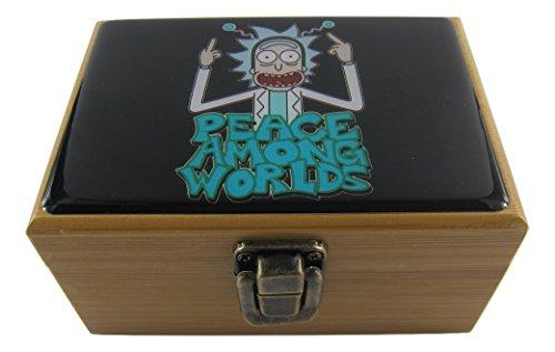 Rick y Morty hierbas Stash Box Combo–Molinillo de 2' pulgadas, 2.5' pulgadas tarro de...