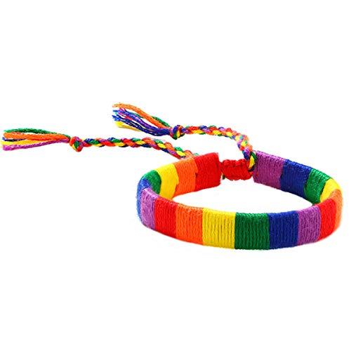 yfstyle Pride Bracelet Rainbow LGBT Bracelet Handmade...