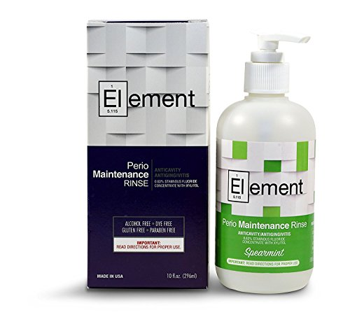 'Element' 10 Fl. Oz. 0.63% Stannous Fluoride Antimicrobial Perio Rinse Mouthwash - Spearmint Flavor