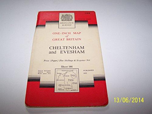 Ordnance Survey One- Inch Map Of Great Britain Cheltenham & Evesham National Grid Seventh Series Fully Revised 1949-50 Sheet 144