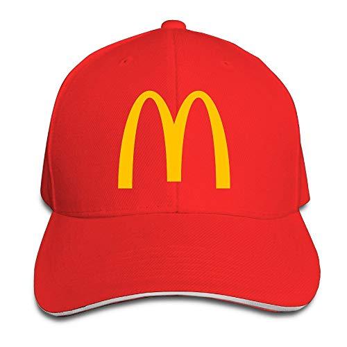 Youaini Unisex McDonalds Logo Adjustable Snapback Baseball cap RoyalBlue One Size