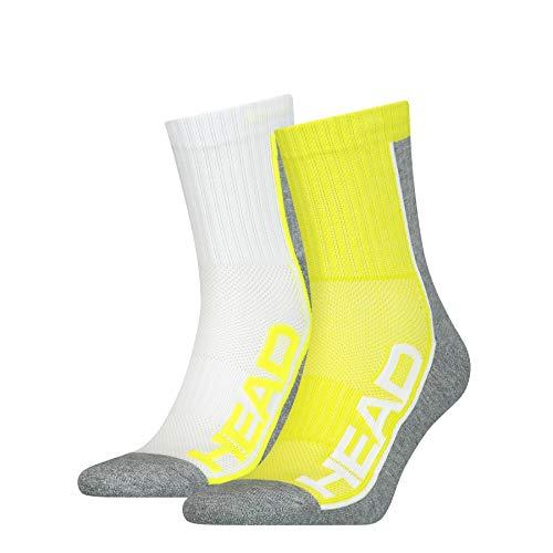 Head Performance Short Crew Socks (3 Pack) Calzini, Lime, 39/42 Unisex-Adulto