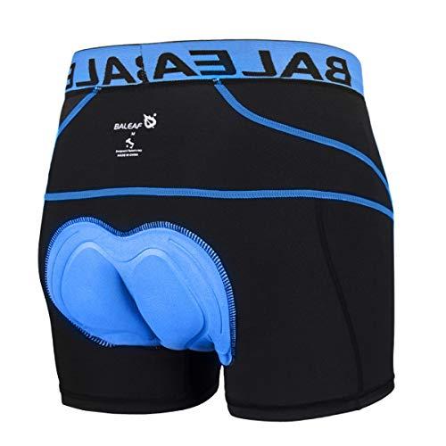 BALEAF Men's 3D Padded Cycling Underwear Shorts - Bike Undershorts Bicycle MTB Underpants Blue XL