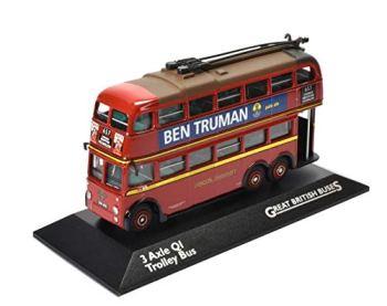 Great British Buses 1:76 Die-Cast 3 Axle QI Trolley Bus London Transport