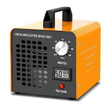 Generador de Ozono Hogar 10000MG/h Máquina de Ozono para Coche Desinfectador de ozono Purificador Ozono de Aire con Temporizador de 120 min para Eliminaciónn de Olor y Desinfección