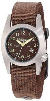 Bertucci 18016 Unisex Stainless Steel Brown Leather Band espresso Dial Smart Watch
