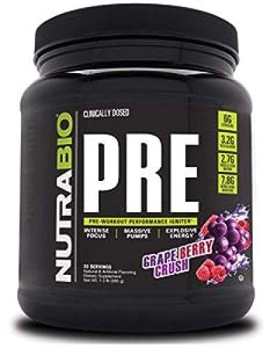 NutraBio PRE Workout V5 - Grape Berry Crush