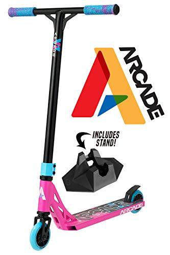 Arcade Monopattino Stunt Scooter PRO Monopattino Freestyle Professionale Bambina Bambino (Pink/Rosa)