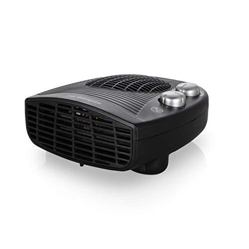 Orbegozo FH 5028 Calefactor eléctrico con termostato Ajustable, 2000 W de Potencia, 2 Posiciones de Calor y función Ventilador, Negro