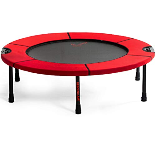 Rebound Air Classic Rebounder Foldable Mini Fitness Trampoline for Adults, Kids and Family | Personal Indoor/Outdoor Exercise Equipment for Home Gym Workout Up to 300 lbs | Half-Fold (Red)