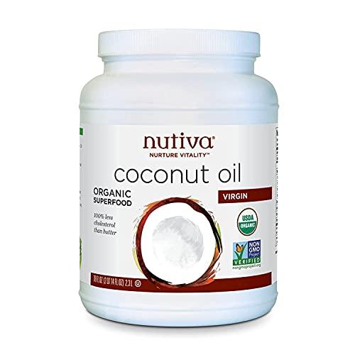 Nutiva Organic Cold-Pressed Virgin Coconut Oil, 78...