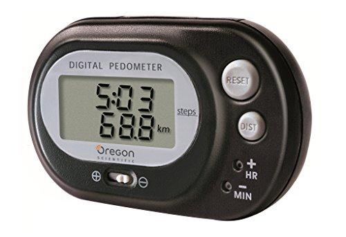 Oregon Scientific PE-320-negro - Podómetro con función reloj, cuenta pasos y cálculo de...