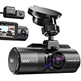 Vantrue N4 3 Channel 4K Dash Cam, 4K+1080P Front and Rear, 4K+1080P Front and Inside, 1440P+1080P+1080P Three Way Triple Car Camera, IR Night Vision, 24 Hour Parking Mode, Capacitor, Support 256GB Max
