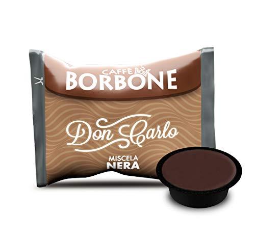 Caffè Borbone Don Carlo Miscela Nera - Confezione da 100 Capsule - Compatibili con macchine a marchio Lavazza* A Modo Mio*