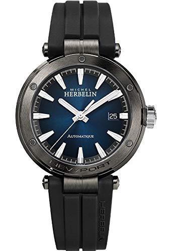 Michel Herbelin Herren-Armbanduhr Newport Automatic 1668/G45CA Automatik-Uhrwerk, Gehäuse 41 mm, Saphirglas
