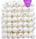 MAPOL 100 Pack White 3-star Table Tennis Balls Advanced Training Ping Pong Ball