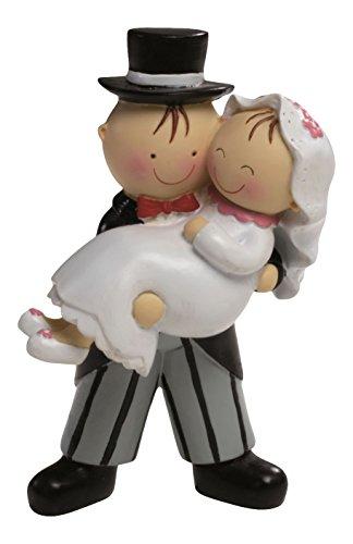 Mopec Pastel Figura de Tarta Novia en Brazos, Blanco