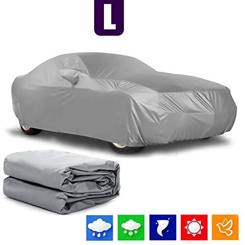 Alaskaprint - Cubierta para coche, lona impermeable, estanca al polvo, protección contra la nieve, el sol, lona completa para vehículo