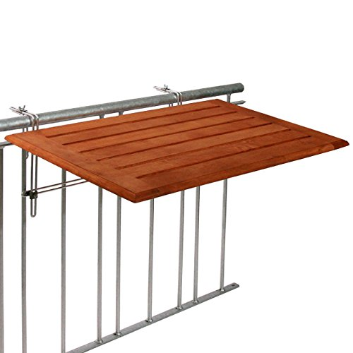 Videx-Balkonklapptisch, Bambusholz, 50 x 100cm