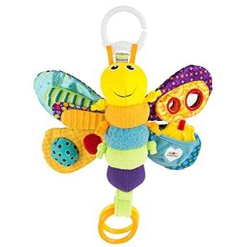 LAMAZE Freddie The Firefly Clip on Pram & Pushchair Newborn Baby & Sensory Toy, Christmas Gift for Babies Boys & Girls, Multicolour, 0 - 6 Months, 800 g